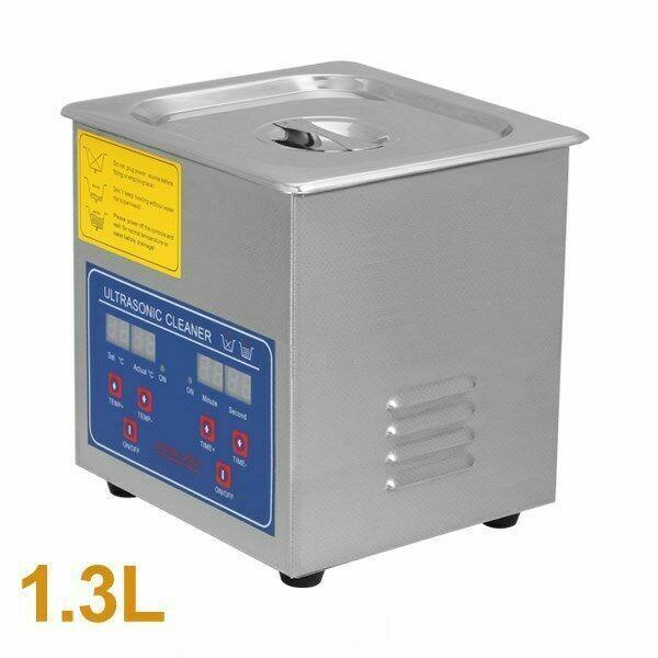 1.3l Ultrasonic Cleaner Digital Cleaning Machine Stainless Steel Heater Timer