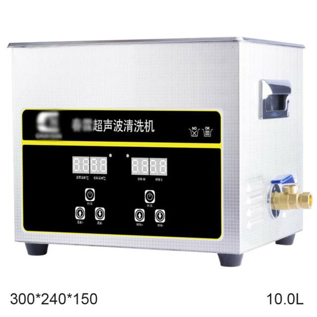 10l Digital Stainless Ultrasonic Cleaner Sonic Bath Cleaning Tank Timer Washing