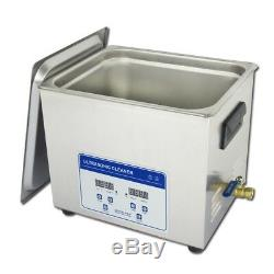 10L Digital Ultrasonic Cleaner Machine with Timer Heated SUS Cleaning tank