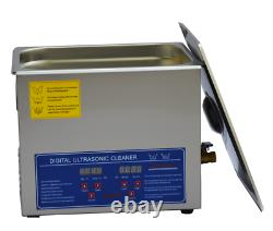 10L Industry Stainless Steel Ultrasonic Cleaner with Digital Timer and Basket