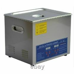 10L Powerful Stainless Steel Ultrasonic Cleaner Digital Timer Heater JPS-40A