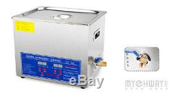 10L Pro Stainless steel Digital Ultrasonic Cleaner Heated Clean Jewelry Machine