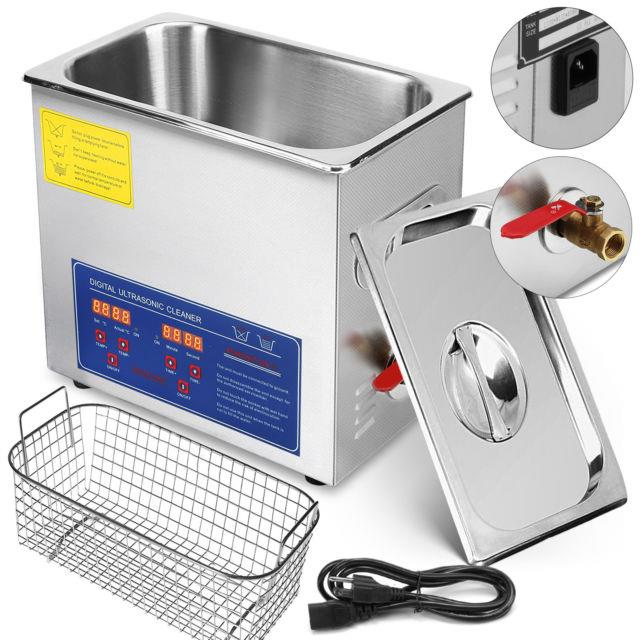 10l 10 L Heated Ultrasonic Cleaner Digital Control Led Display Stainless Steel