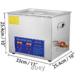 10l Ultrasonic Cleaners Cleaning Equipment Led Display with Heater Brushed Tank