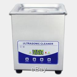 110V 2L Digital Ultrasonic Cleaner Dental Lab jewelry with heater and Degassing