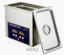 110V 3.2L Stainless Steel Digital Ultrasonic Cleaner Tank with Timer Heater