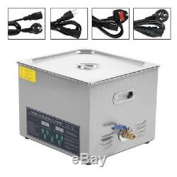 15L Digital Stainless Industry Ultrasonic Cleaner Cleaning Timer Jewelry Rings