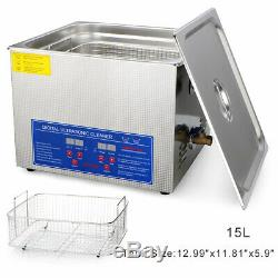 15L Professional Digital Ultrasonic Cleaner Machine With Timer Heated Cleaning