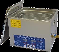 15L Stainless Ultrasonic Cleaner JPS-60A with Digital Control LCD NC Heating