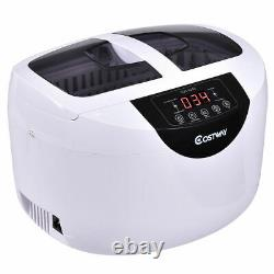 2.5 L Digital Heated Ultrasonic Cleaner Goggles Jewelry Rings Professional