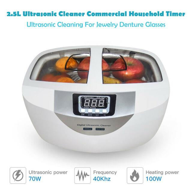 2.5l Commercial Timer Digital Ultrasonic Cleaner For Jewelry Fruits Disinfection
