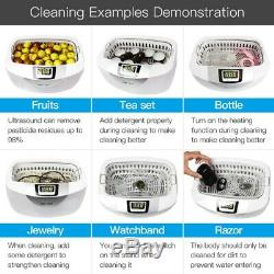 2.5L Digital Ultrasonic Cleaner Ultra Sonic Sterilize for Jewelry Parts Glasses
