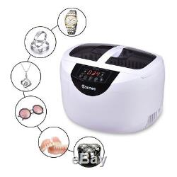 2.5L Digital Ultrasonic Cleaner f Dental Jewerly Stainless Steel with Timer Heater