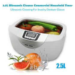 2.5L Household Digital Timer Ultrasonic Cleaner For Denture Jewelry Disinfection