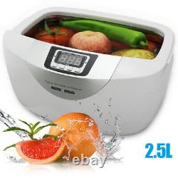 2.5L Household Timer Ultrasonic Cleaner For Glasses Denture Jewelry Disinfection