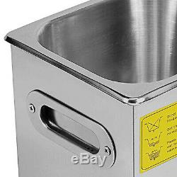 2 Liter Industry Heated Ultrasonic Cleaners Cleaning Equipment Heater withTimer US