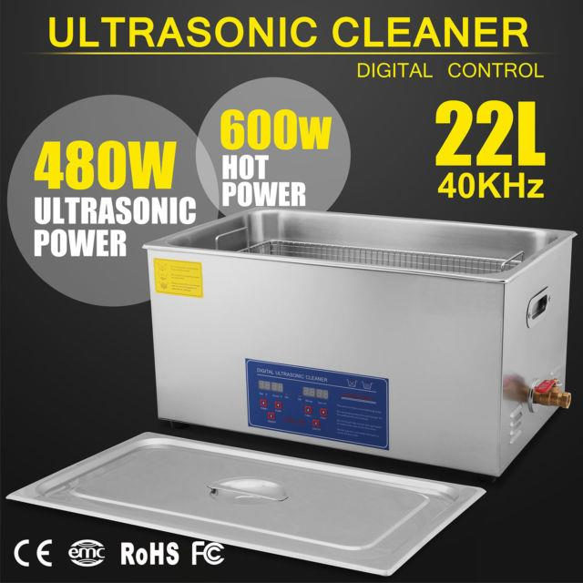 22 Liter Ultrasonic Heated Cleaner Stainless Steel Medical Dental Jewelry New