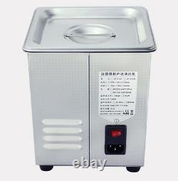 220V 2L Digital Ultrasonic Cleaner for Dental Lab Jewelry with Heater & Degas