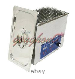 220V 6L 180W Digital Heated Ultrasonic Cleaner For Jewelry Dental coin