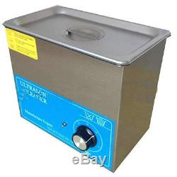 220V Digital Ultrasonic Cleaner Dental Lab jewelry 4L with heater Timing