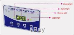 220V With Heater And Degas Digital Jewelry Tools Dental Lab Ultrasonic Cleaner R