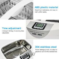 2500ML Commercial Digital Ultrasonic Cleaner For Jewelry Vegetables Disinfection