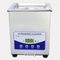 2L 220V Digital Ultrasonic Cleaner Dental Lab jewelry With heater and Degassing