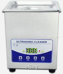 2L 220V Digital Ultrasonic Cleaner Dental Lab jewelry with heater and Degas