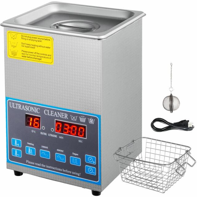 2l Digital Ultrasonic Cleaner Heated Industrial Stainless Steel 28/40khz Parts