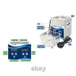 2L Digital Ultrasonic Cleaner Stainless Steel Machine Timer Heater 60With150W FDA