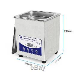 2L Digital Ultrasonic Cleaner Ultra Sonic Bath Cleaning Basket Timer Heater Tank