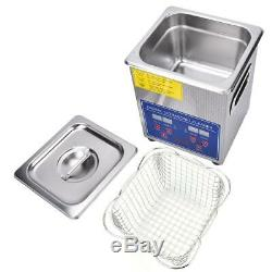 2L Digital Ultrasonic Cleaner Ultra Sonic Bath Cleaning Tank Timer Free Post