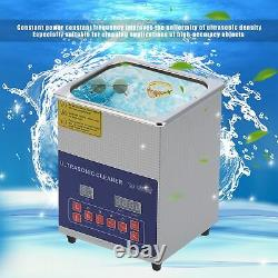 2L Stainless Steel Digital Ultrasonic Cleaner Heated Cleaning Tank Machine