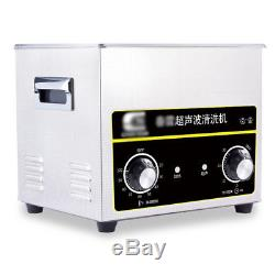 3.2 L Stainless Steel Digital Ultrasonic Parts Cleaner Sonic Cleaning Timer NEW