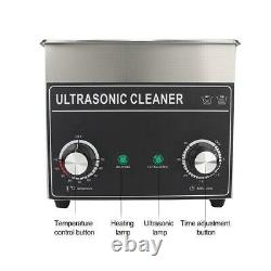 3.2L Digital Ultrasonic Cleaner 150W Bath Cleaning Heating Heater Timer 220