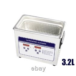 3.2L Digital Ultrasonic Cleaner Sonic Wave Industrial Jewellery Watch Cleaning