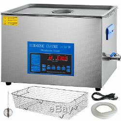 30L Digital Ultrasonic Cleaner with Heater 28/40KHz Lab Efficient Water Drain