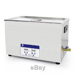 30L Digital Ultrasonic Jewelry Watches Cleaner Machine Heated Cleaning US PLUG