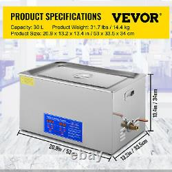 30L Stainless Steel Digital Ultrasonic Cleaner Sonic Cleaning Equipment Parts