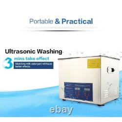 3L Digital Heated Ultrasonic Cleaner Bath Tank Cleaning Machine With Timer