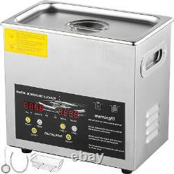 3L Digital Ultrasonic Cleaner 200W Heater Stainless Steel Cleaning Baskets