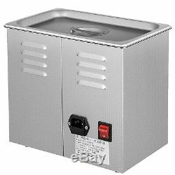 3L Digital Ultrasonic Cleaner with Heater 28/40KHz Water Drain Heating Large