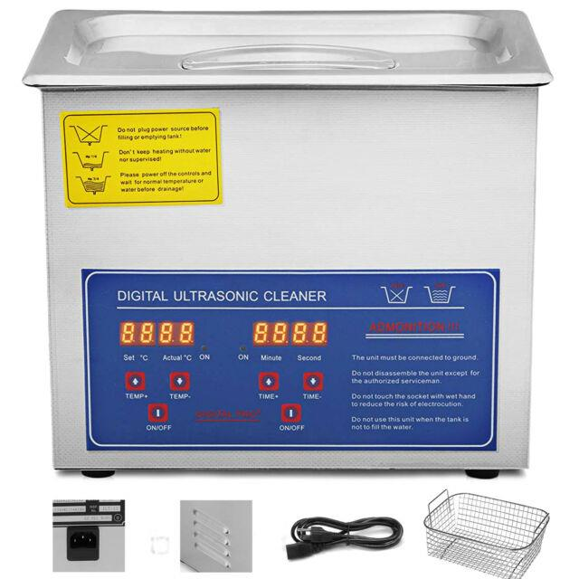 3l Industry Digital Ultrasonic Cleaner Heater Timer Stainless Jewel Clean Tank