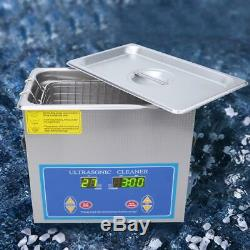 4.5L Ultrasonic Cleaner Digital Timing Heating Lab Cleaning Machine 240HTD FZ