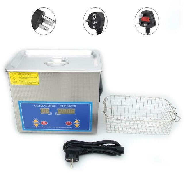4.5l Ultrasonic Cleaner Stainless Steel Digital Timing Heating Lab Cleaning New