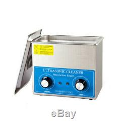 4L Digital Ultrasonic Cleaner Dental Lab Jewelry with Heater Timing 220V