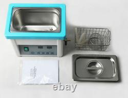 5L Digital Ultrasonic Cleaner 080 with Basket for Dental Device Glasses Jewelry