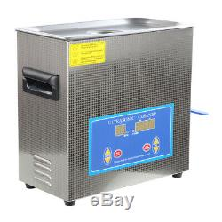 6.5L Professional Ultrasonic Cleaner with Digital Timer&Heater for Jewelry Watch