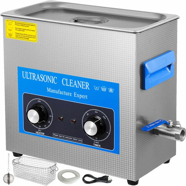 6 L Commercial Ultrasonic Cleaner Stainless Steel Digital Timer And Temperature