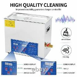 6L/1.58gallon Ultrasonic Cleaner with Digital Timer and Heater, 180W Ultrasonic